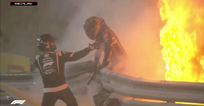 Sauvetage de Romain Grosjean