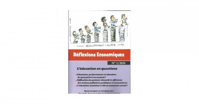"""Couverture du 1er numéro de la revue """"Réflexions économiques"""""""