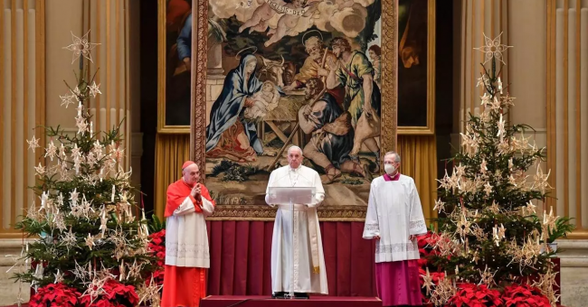 Message de Noël du pape François