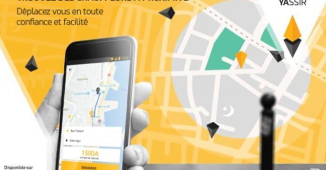 Affiche de l'appli mobile Yassir