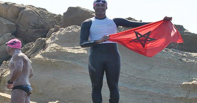 Le nageur marocain Hassan Baraka © DR