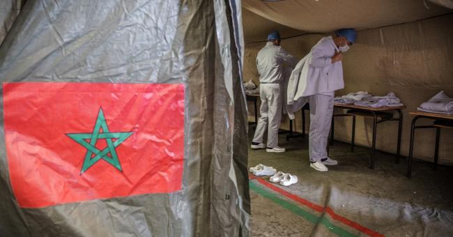 Les premiers vaccins chinois du laboratoire Sinopharm sont arrivés au Maroc ce mercredi matin © Fadel Senna/AFP