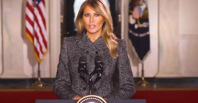 Melania Trump fait ses adieux aux Américains