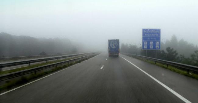 Brouillard fréquent sur plusieurs sections autoroutières © DR
