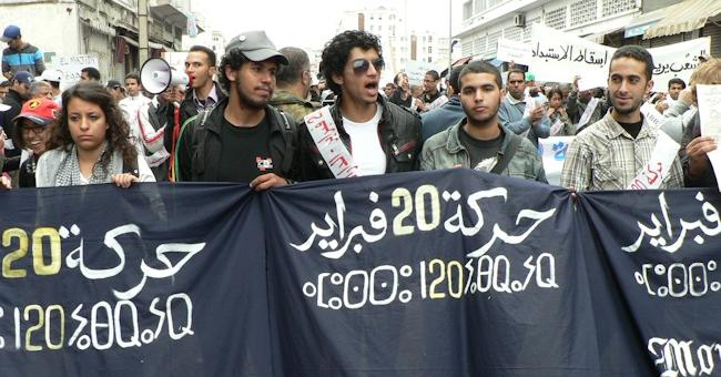 Manifestation du M20F à Casablanca