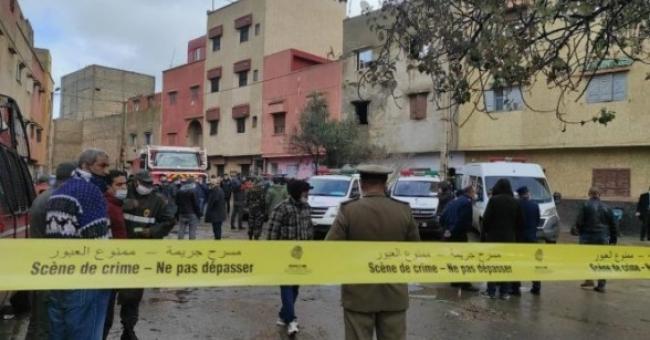 La scène du crime, au quartier Rahma, samedi 6 février © DR