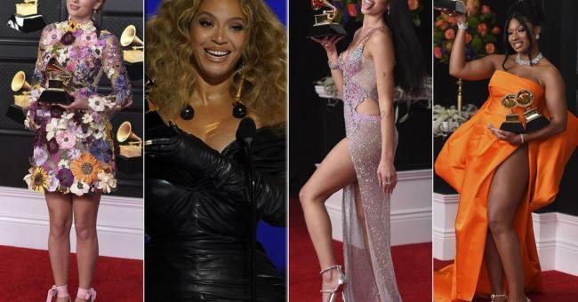 Le tapis rouge et les lauréats des Grammy Awards 2021