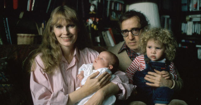 Woody Allen et Mia Farrow © Getty Images