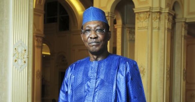 Idriss Déby Itno, au palais présidentiel de N'Djamena © Vincent Fournier/JA