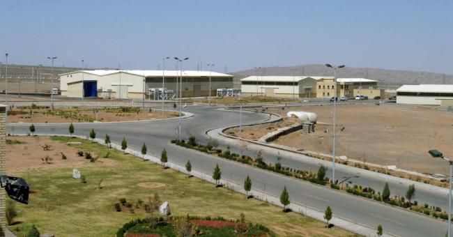 L'usine d'enrichissement d'uranium de Natanz, située à 250 km au sud de la capitale Téhéran, en Iran, le 30 mars 2005. RAHEB HOMAVANDI / REUTERS