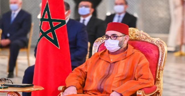 Le roi Mohammed VI le mercredi 14 avril 2021 au Palais royal de Fès © MAP