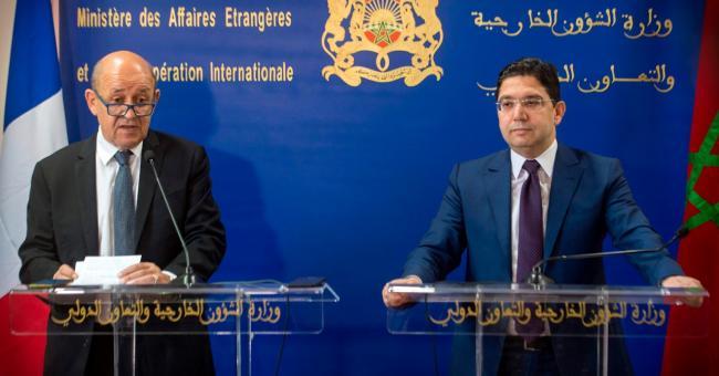 Le ministre des Affaires étrangères, Nasser Bourita, et son homologue français Jean-Yves Le Drian ©️ DR