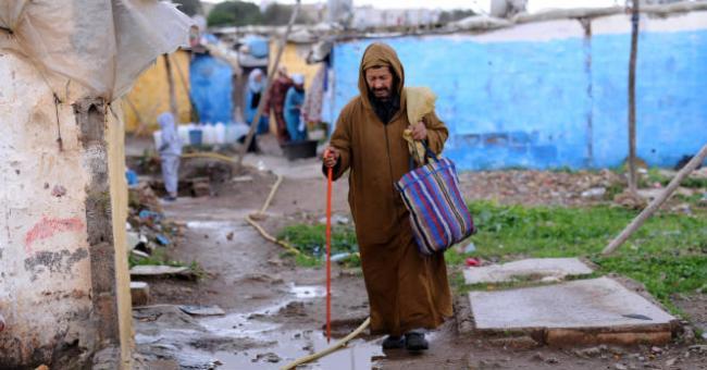 Le bidonville de Sahb El Caïd, à Salé, au Maroc, en novembre 2012 © AFP