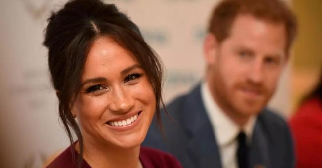 Meghan Markle, la duchesse de Sussex, et le prince Harry, duc de Sussex, au château de Windsor, le 25 octobre 2019 © Jeremy Selwyn, pool, via Reuters