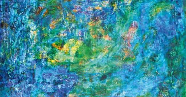 Wood Spring d'Ahmed Yacoubi (1928-1985) © Eldon & Choukri Auctioneers