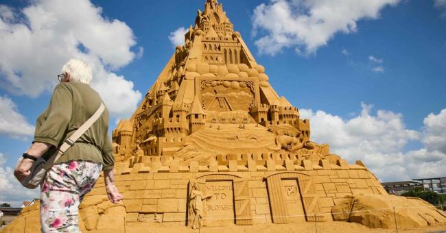 Le plus haut château de sable du monde a été construit au Danemark © Ritzau Scanpix