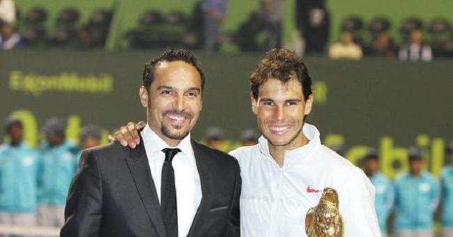 Karim Alami, directeur de l'Open de Doha en compagnie de la légende du tennis Rafael Nadal © DR