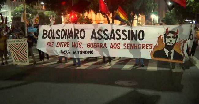 Brésil : manifestation contre Jair Bolsonaro