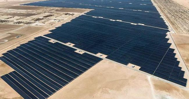 Centrale solaire d'Abu Dhabi © WAM