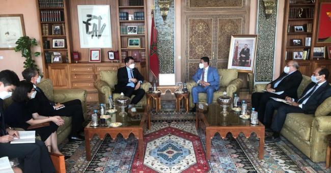 Nasser Bourita a reçu, aujourd'hui à Rabat, le vice-ministre sud-coréen des Affaires Etrangères, M. Choi Jong-kun.