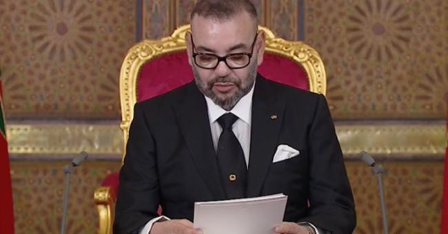 Le roi Mohammed VI lors du discours du vendredi 20 août 2021 © DR