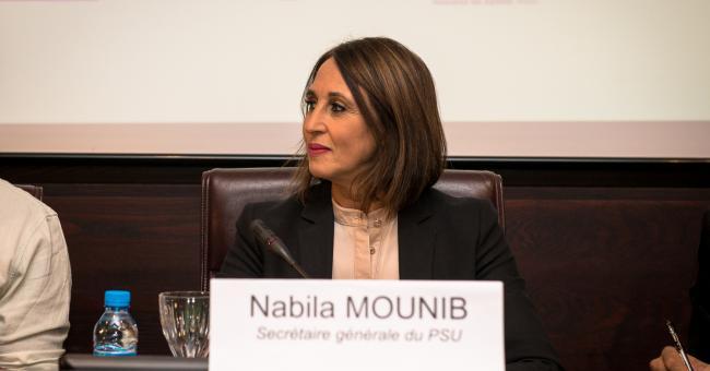 Nabila Mounib, secrétaire générale du PSU © DR