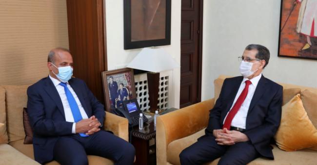 Saâd Dine El Otmani, et le vice-président du Conseil présidentiel libyen, Abdallah Hussein Al-Lafi.