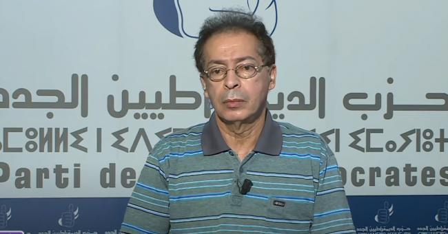 Mohamed Drif, et le président du conseil national du NEO présentant le programme de son parti sur Médi1TV © Capture d'écran, YouTube